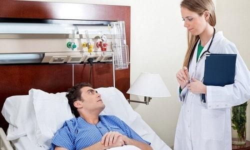 У лежачих пациентов после операции повышен риск тромбообразования вен голени