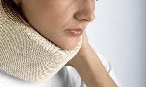 Необходимо носить фиксирующий воротник (до 4 месяцев), снять его можно только после клинического обследования