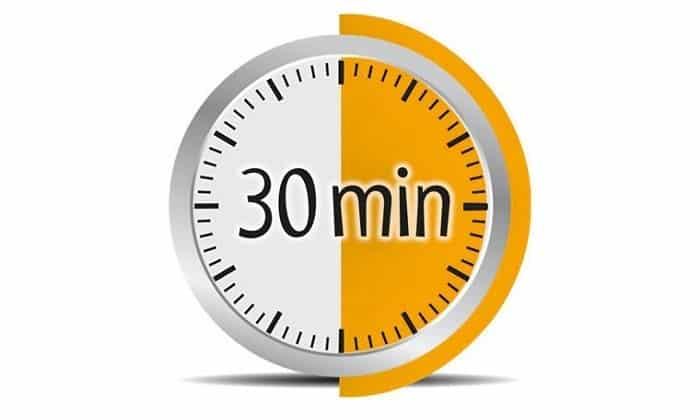 Продолжительность операции в среднем – от получаса до двух часов