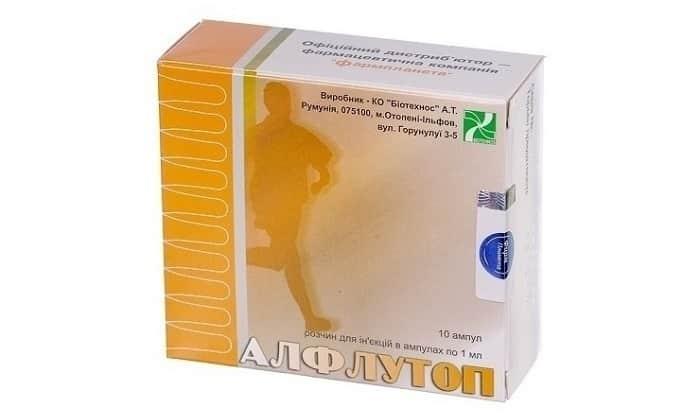 Лечение проводят препаратом Алфлутоп, который способствует регенерации хрящевой ткани