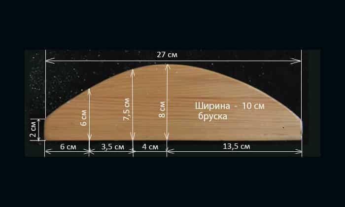 Длина конструкции составляет 27 см, ширина - 10 см, а максимальная высота - 8 см