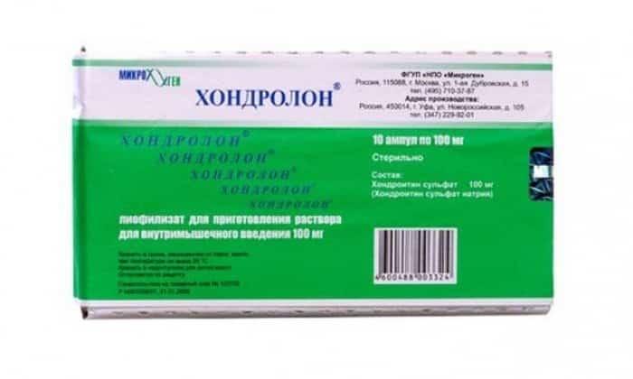 Действующим веществом препарата Хондролон является хондроитин