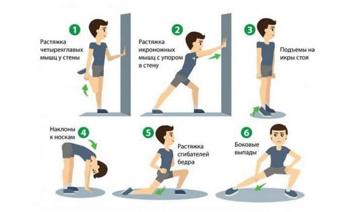 Перед тренировкой необходимо размяться. Это позволит избежать травм, неприятных ощущений во время занятия