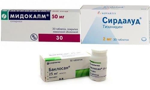 Мидокалм, Баклосан и Сирдалуд содержат комбинацию активных веществ, которые по-разному влияют на организм