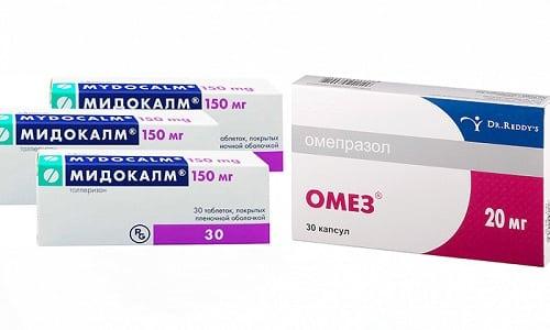 При болезнях желудочного-кишечного тракта и повышенном тонусе мышц врач может выписать 2 препарата одновременно